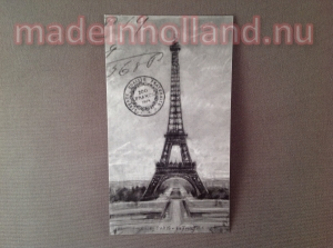 Label 5x8,5 cm Eiffeltoren Paris
