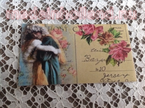 Label 5x8,5 cm postcard romantisch