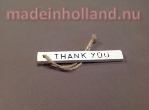 Houten label hanger THANK YOU