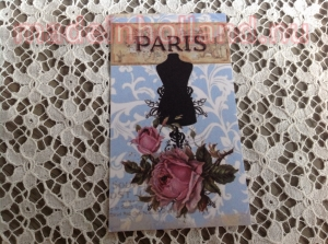 Label 5x8,5 cm paris paspop